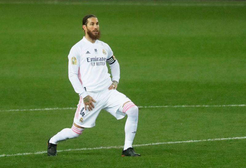 FOTO DE ARCHIVO: Sergio Ramos del Real Madrid en el Estadio La Rosaleda, Málaga, España. el 14 de enero de 2021. REUTERS/Jon Nazca
