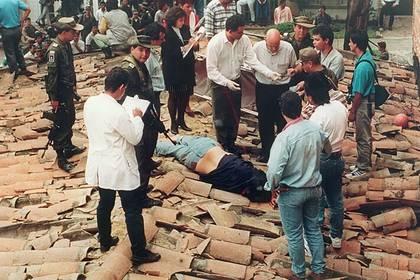 Cuerpo de Escobar dado de baja por las autoridades en diciembre de 1993