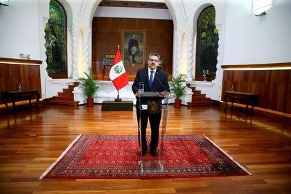 Manuel Merino presentó la renuncia al cargo de presidente de Perú (Presidencia de Perú/Entregada vía REUTERS)