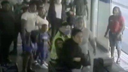 Imágenes de la captura de la banda delincuencial el MIO. Foto: Secretaría de Seguridad de Cali