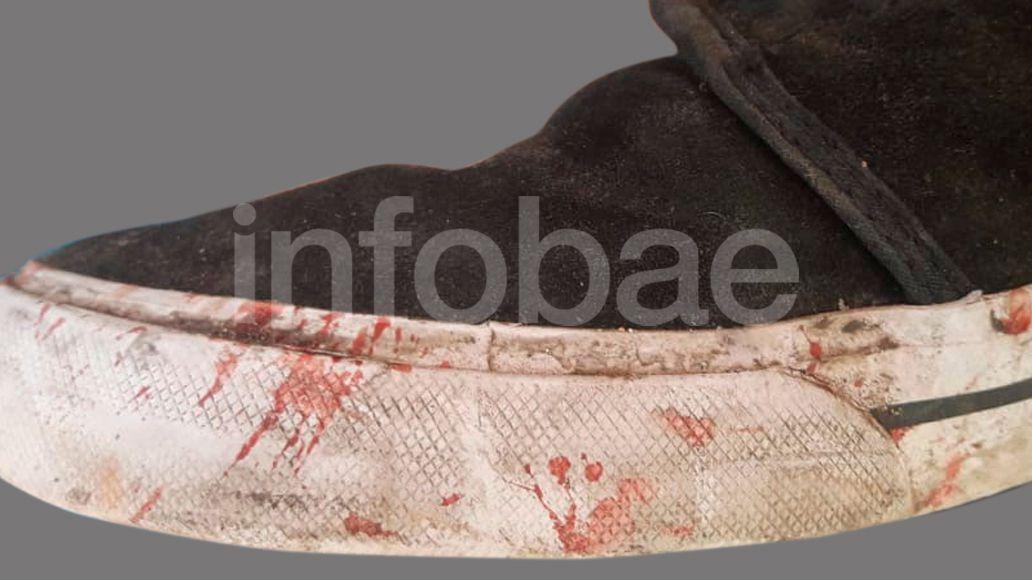 La zapatilla que fue peritada por la PFA.