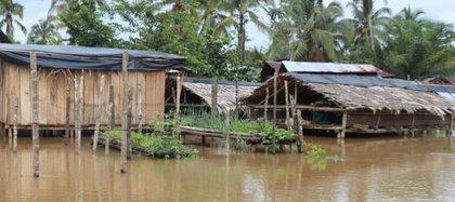 Desbordamiento del río Berreberre en Chocó. Foto: Gobernación del Chocó.
