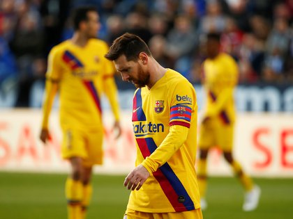 La última presentación de Lionel Messi ante el Leganés Foto: REUTERS/Javier Barbancho