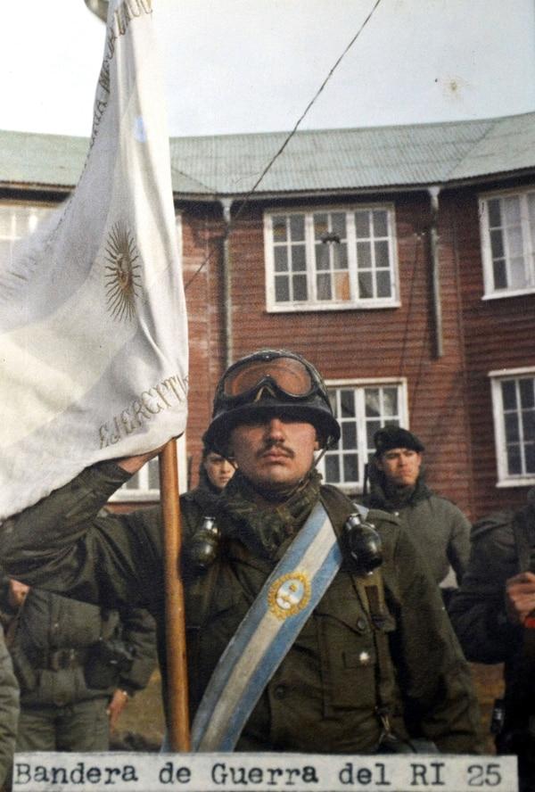 La bandera de guerra en Malvinas