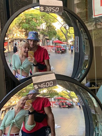 Anna Chiara y su novio Gastón (Instagram)