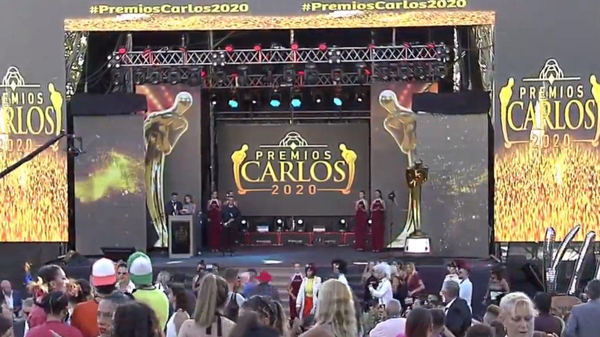 Se entregan los Premios Carlos en Villa Carlos Paz (Foto: captura TV)