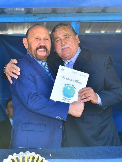 Rubén Pereira junto al gobernador de Formosa, Gildo Insfrán. (@insfran_gildo)