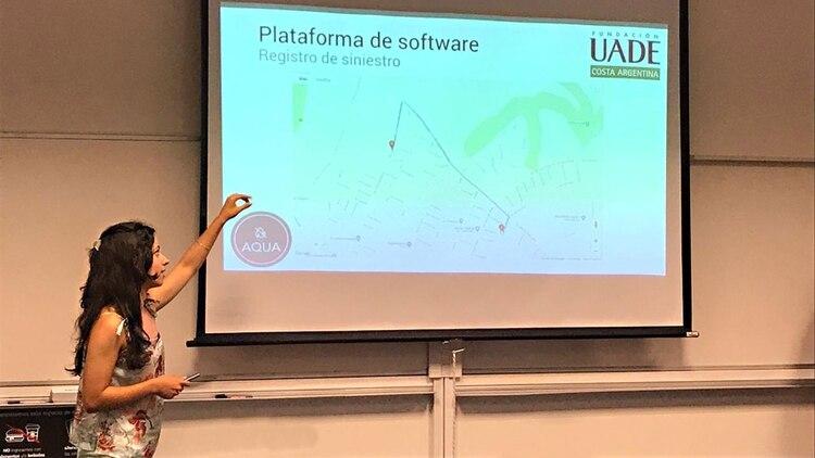 Ana Martínez durante la presentación del proyecto