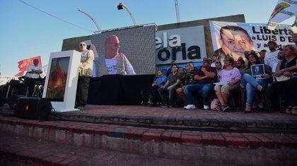 Santiago Cúneo en un acto de su campaña a gobernador de Buenos Aires (Manuel Cortina)