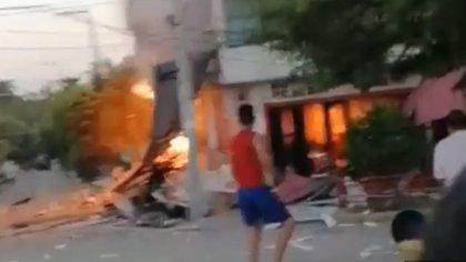 Video| Cuatro personas heridas dejó la explosión en un asadero de Purificación (Tolima)