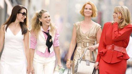 El elenco de Sex and the city en la primera película estrenada en 2008