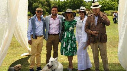 Felipe Durán, Maita Barenechea, Chantal Erdozain y Archibaldo Lanús