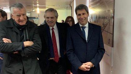 José Luis Gioja, Alberto Fernández y Sergio Uñac el 20 de junio en San Juan