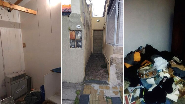 Imágenes de la casa de Banfield donde ocurrió el hecho.