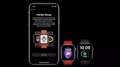 Los nuevos Apple Watch 6 y SE, así como todos los relojes desde Apple Watch 4 en adelante incluirán la opción de configuración familiar o family setup