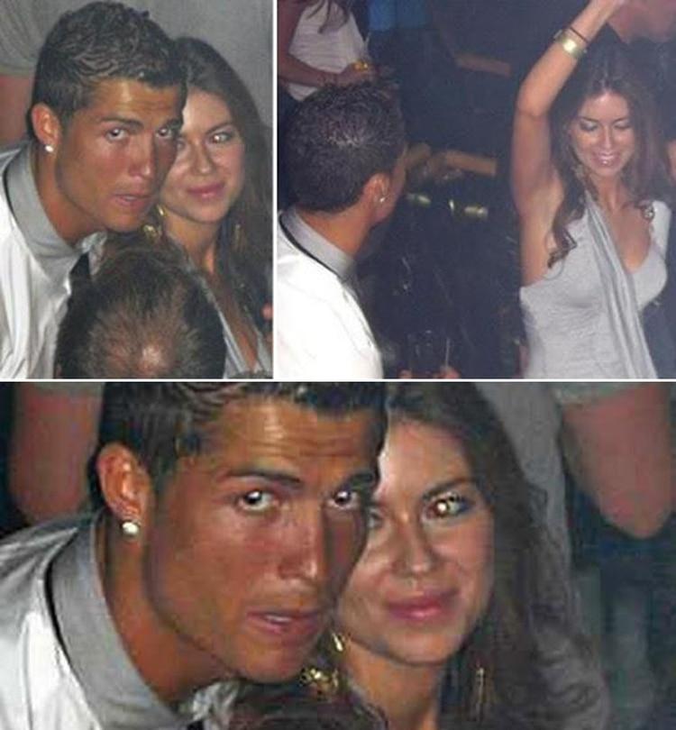 Mayorga y Cristiano Ronaldo durante la noche del 13 de junio del 2009