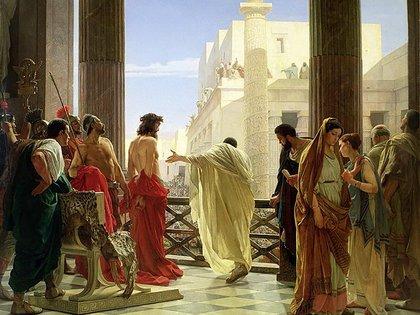 Poncio Pilato pregunta a la multitud qué hacer con Jesús
