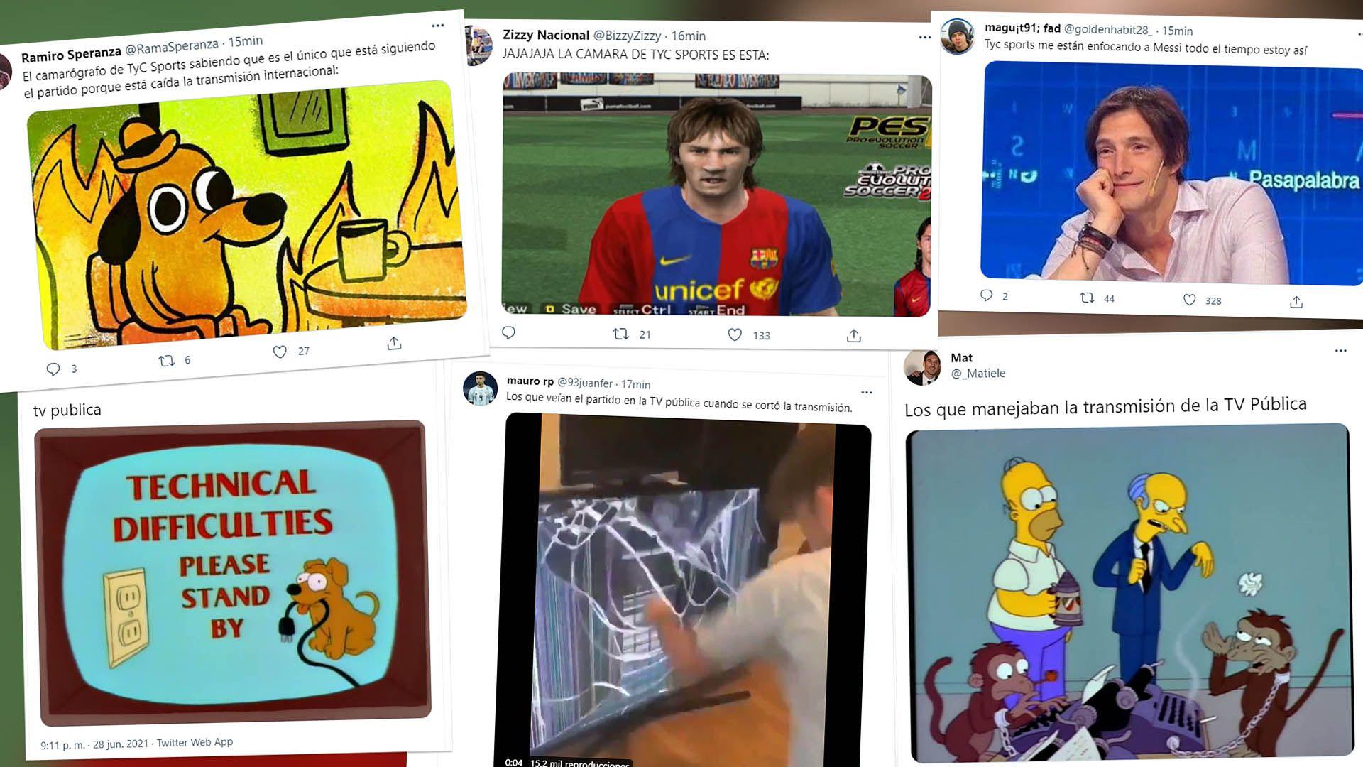 Los mejores memes por el corte en la señal de Argentina vs Bolivia
