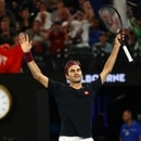 Tennis - Australian Open - Third Round - Melbourne Park, Melbourne, Australia - January 25, 2020. Switzerland's Roger Federer celebrates after his match against Australia's John Millman. REUTERS/Kai Pfaffenbach