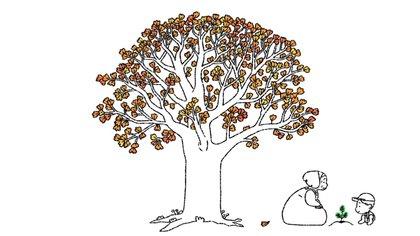 En el video se ven a diferentes personas platanar semillas que devienen en árboles frondosos (captura de pantalla de YouTube)