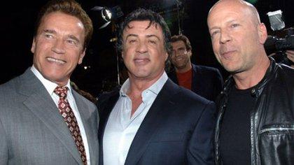 rnold Schwarzenegger, Sylvester Stallone y Bruce Willis