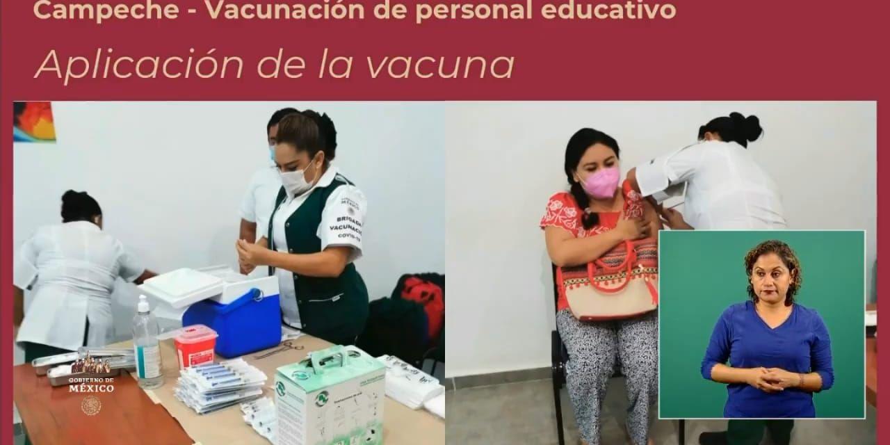 vacuna campeche maestros