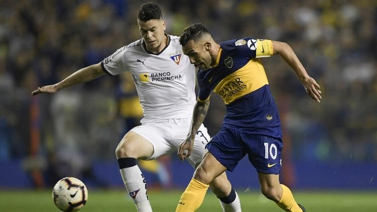 Boca no tuvo problemas para eliminar a Liga de Quito en cuartos de final (Foto:AFP)