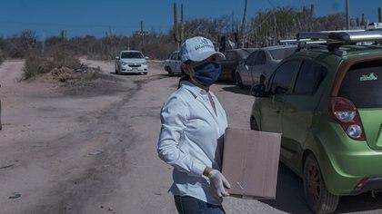 Denuncia INE entrega de despensas Foto: Fb/Susana Zatarain