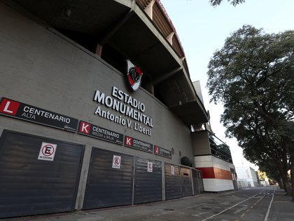 General view outside the Monumental Stadium, one of the venues planned for the Copa America tournament which had it not been for the coronavirus disease (COVID-19) would have started on June 12. Buenos Aires, Argentina, Picture taken June 10, 2020. REUTERS/Agustin Marcarian