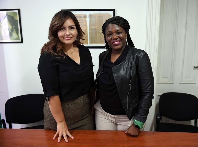 Roza Calderón y Cori Bush durante su visita a Buenos Aires (Maximiliano Luna)