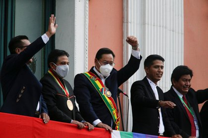 Arce, el sucesor político de Evo Morales y su ex ministro de Finanzas, asumió este domingo como nuevo presidente de Bolivia (Foto:David Mercado/ Reuters)