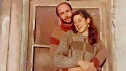 Carlos El Indio Solari y su esposa, Virginia, hace algunos años (@indiosolarioficial)