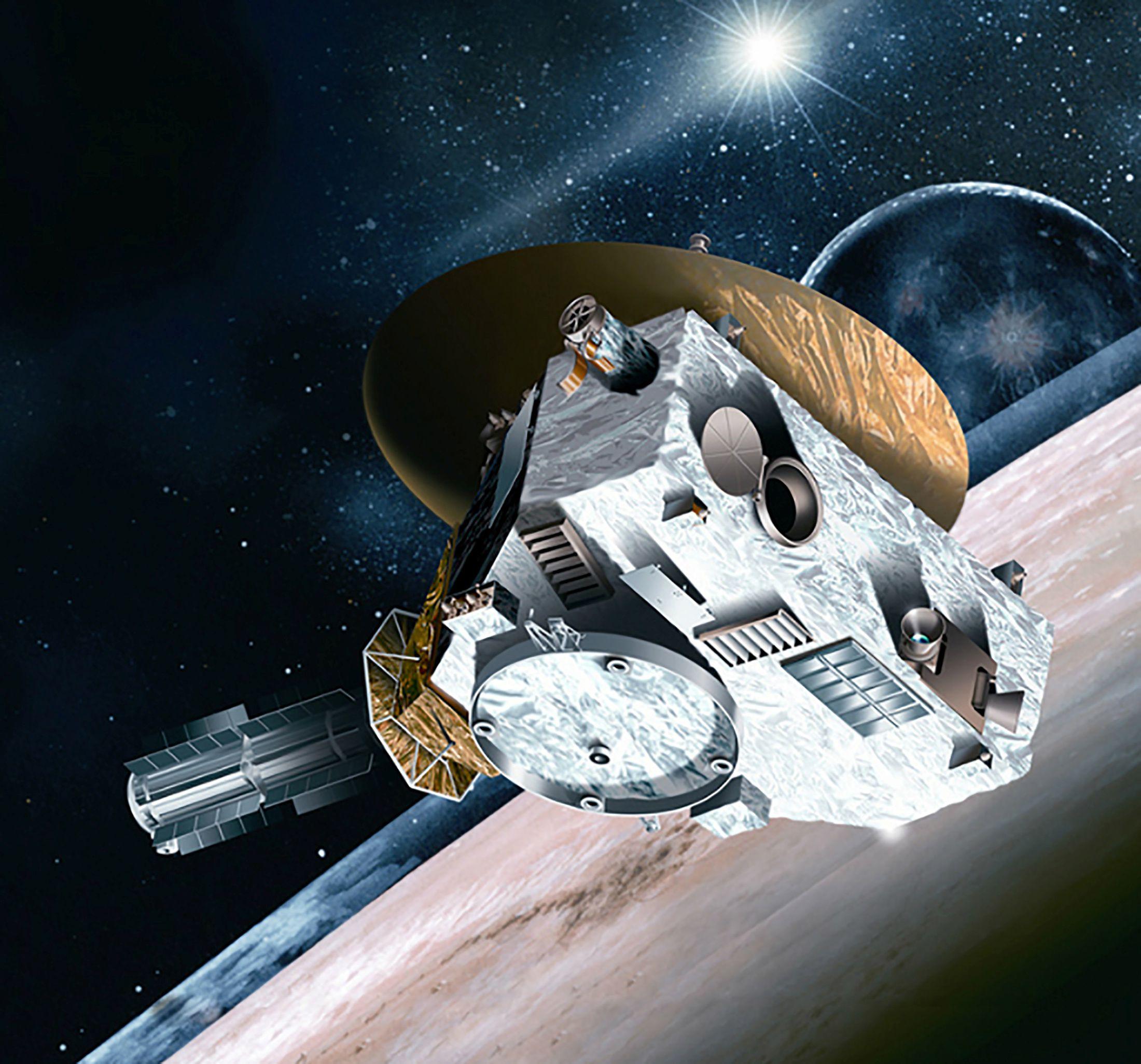 La nave espacial New Horizons de la NASA se ve en la representación de un artista sin fecha (REUTERS/NASA/Handout via Reuters)