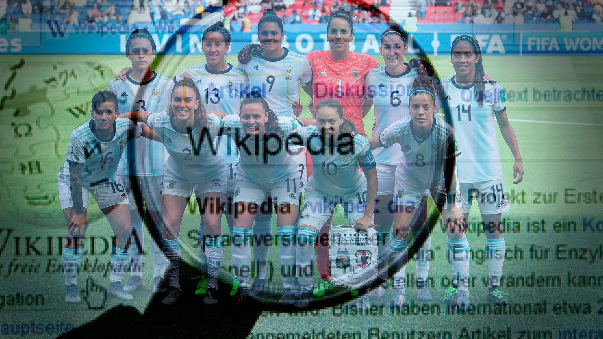 Jugadoras de fútbol en Wikipedia