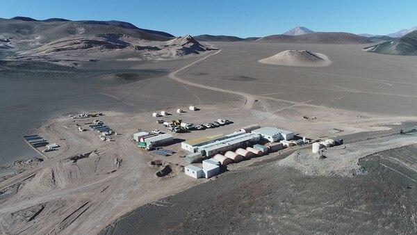 Vista aérea de la planta de exploración de la compañía