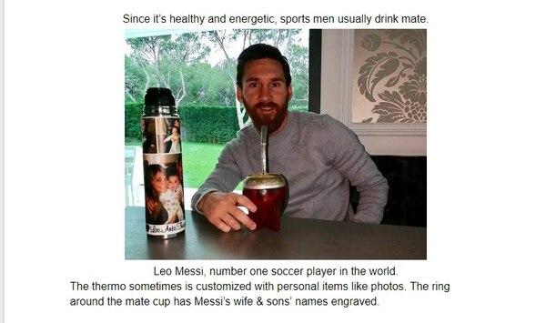 Dentro de la propuesta presentada a Unicode se menciona que varias celebridades del mundo, como Lionel Messi, toman mate
