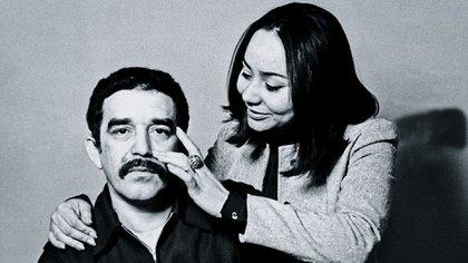 El nobel de Literatura colombiano Gabriel García Márquez y su esposa Mercedes Barcha, quien falleció este sábado a los 87 años (Foto: Archivo)
