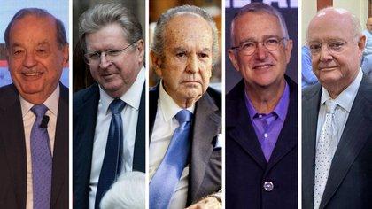 Carlos Slim, Germán Larrea y Ricardo Salinas Pliego encabezan el ranking de billonarios (Foto: Cuartoscuro/Twitter@IsmaelEspanta)