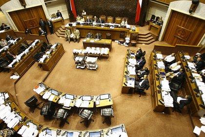 Vista general del hemiciclo del Senado de Chile. EFE/Archivo