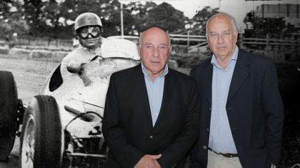 Oscar y Rubén Fangio se conocieron después de 63 años (fotomontaje)