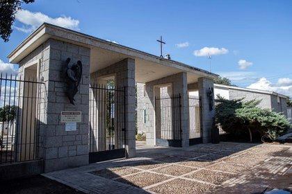Ingreso al cementerio de Mingorrubio, a unos 50 kilómetros de la capital española
