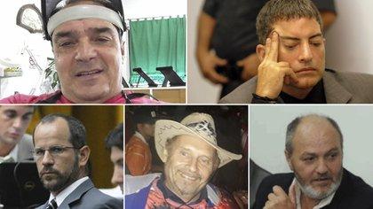 La banda del robo al Banco Río; Mario Vitette, Fernando Araujo, Sebástián García Bolster, Beto de la Torre, Julián Zalloechevarría