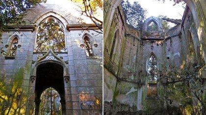 La capilla del Sagrado Corazón en Máximo Fernandez, partido de Bragado en la provincia de Buenos Aires.