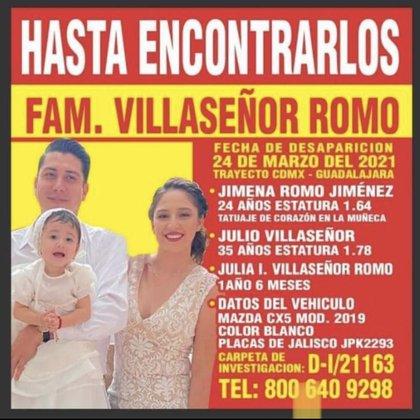 La familia desapareció luego de regresar de vacaciones de la capital del país, hace dos semanas (Foto: MVSNoticias)
