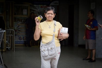 Diosdada Pereira. Sus dos pensiones no le alcanzan. Gana menos que el salario mínimo de Venezuela