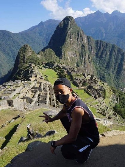 Jesse Takayama pudo disfrutar de Machu Picchu para él solo