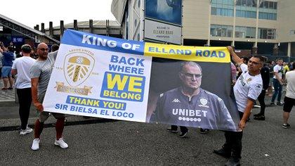 Bielsa generó devoción entre los fanáticos del Leeds (Paul Ellis/ AFP)