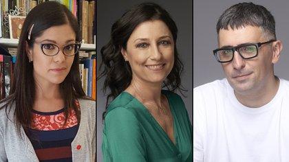 Eugenia Zicavo, Magda Tagtachian y Franco Torchia