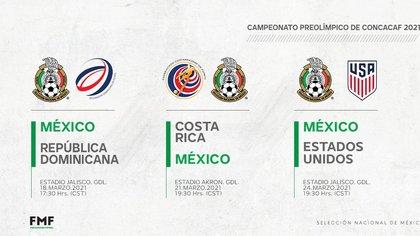 Calendario de encuentros de la fase de grupos para la Selección Mexicana (Foto: Twitter@miseleccionmx)