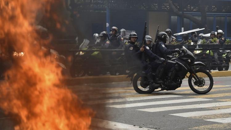 El coronel pidió a los militares no atacar al pueblo venezolano (YURI CORTEZ / AFP)